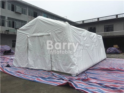 customized shape and functional white inflatable medical tent inflatable cube tent with zipper door and window BY-IT-040